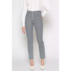 JOIE Aerindis Stripe Button Fly High Rise Jean NWT